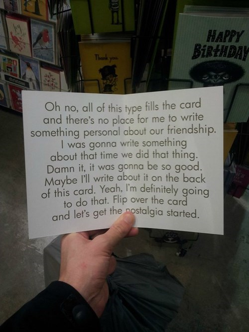 Well Said of the Day: The Greeting Card for When You Don't Know What to Say