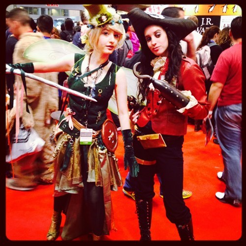 Steampunk Tinkerbell and Captain Hook