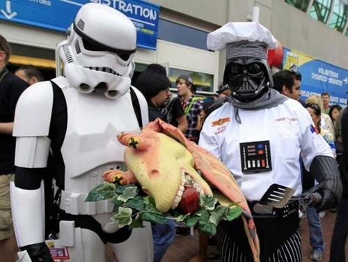 cosplay,darth vader,jar jar binks