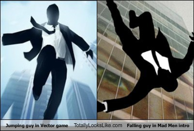 Jumping Guy in The Vector Game Totally Looks Like Falling Guy in The Mad Men Intro