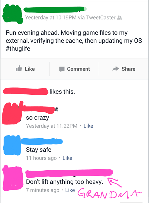 Technology Escapes Grandma