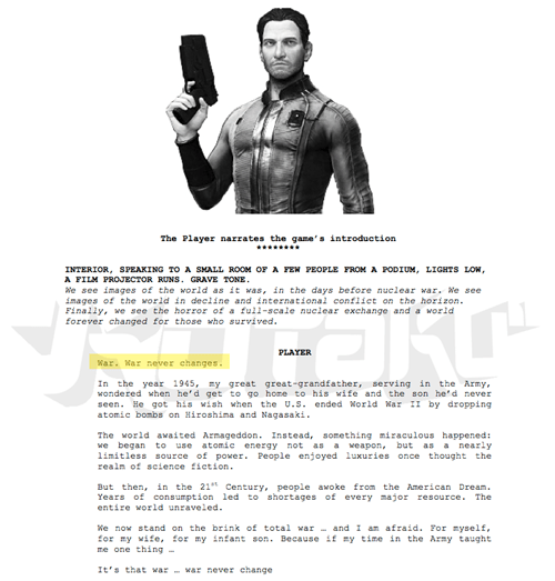 Kotaku Uncovers Real Proof of Fallout 4 in Leaked Casting Call Documents