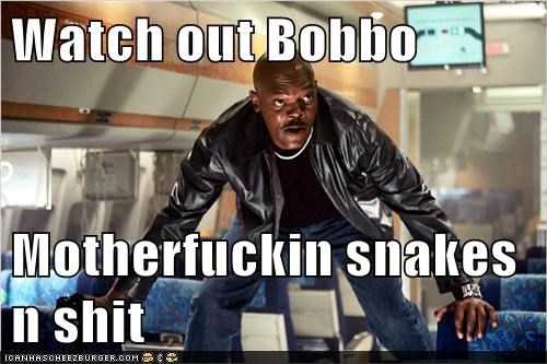 Watch out Bobbo   Motherfuckin snakes n sh*t