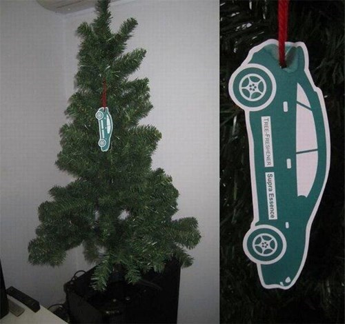 air fresheners,christmas trees,there I fixed it