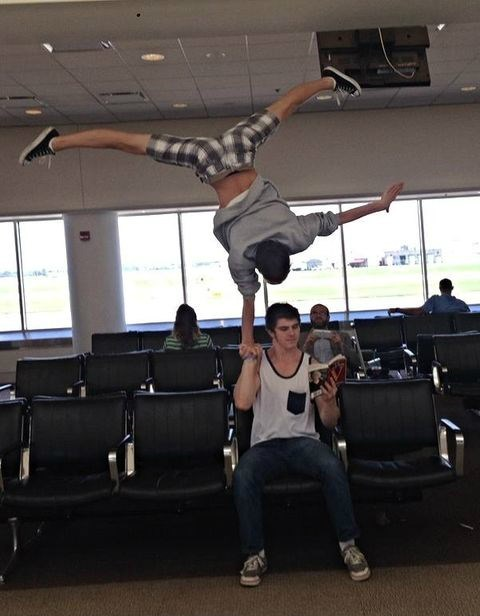 airport,air travel,flying,gymnasts,monday thru friday,g rated
