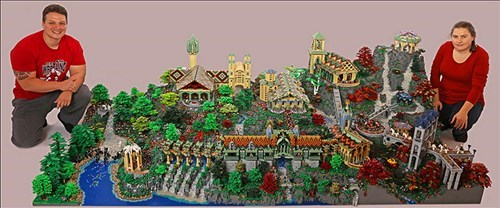 The Detail in This LEGO Rivendell Will Boggle LOTR Fans