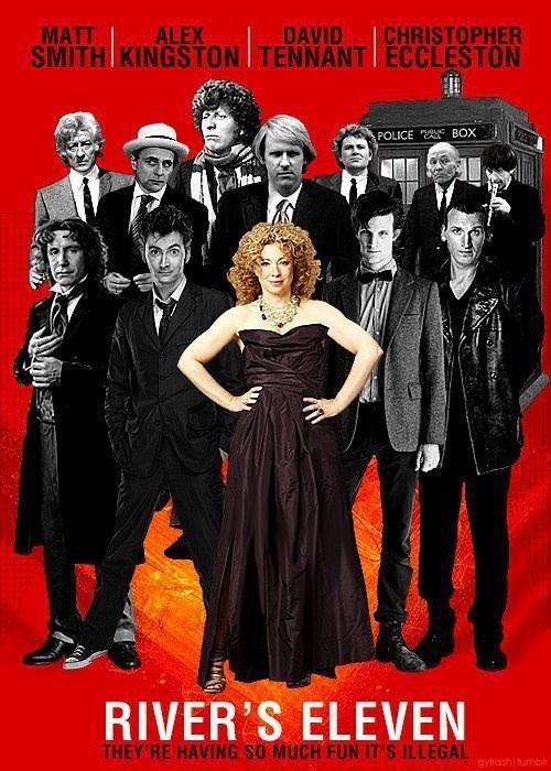 doctor who,River Song,oceans 11