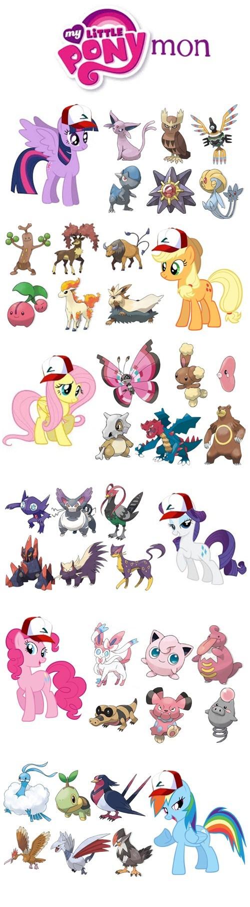 Mane Six's teams in Pokémon
