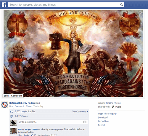 The National Liberty Federation Failed and Posted This Image from BioShock Infinite on Their Facebook Page