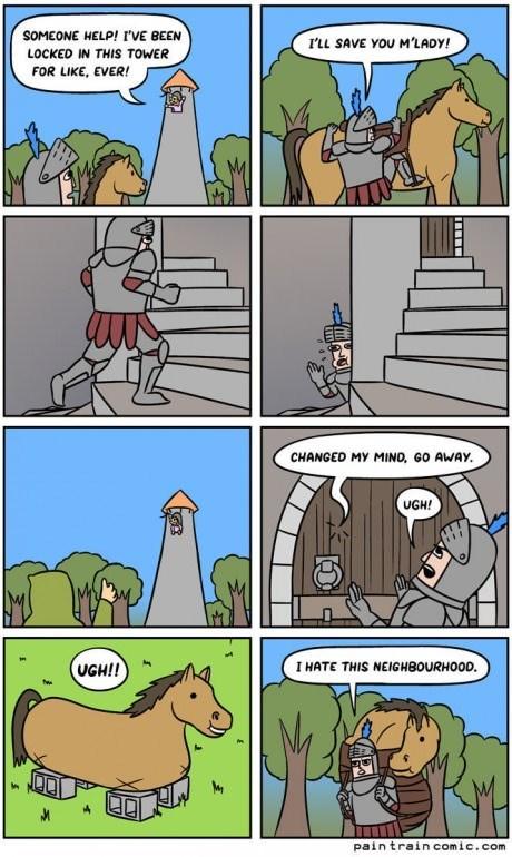 knights,neighborhoods,web comics