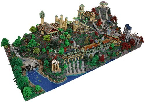 LEGO Craftsmanship of the Day: Rivendell From 'Lord of the Rings' in 200,000 Pieces