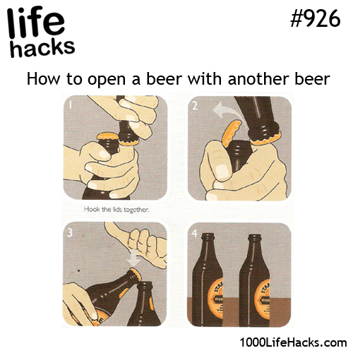 More Than One Way to Open a Beer