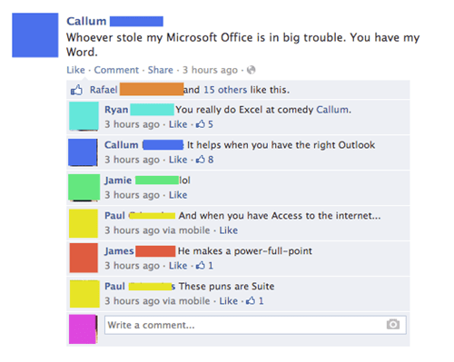 The Office-ial Microsoft Office Pun Post