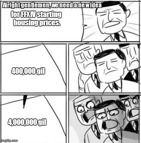 FFXIV Lowest Possible Housing Logic