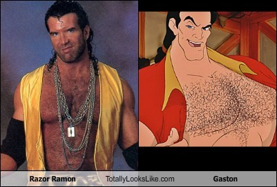 Razor Ramon Totally Looks Like Gaston