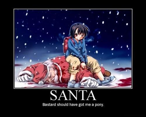 anime,danger,funny,santa,wtf