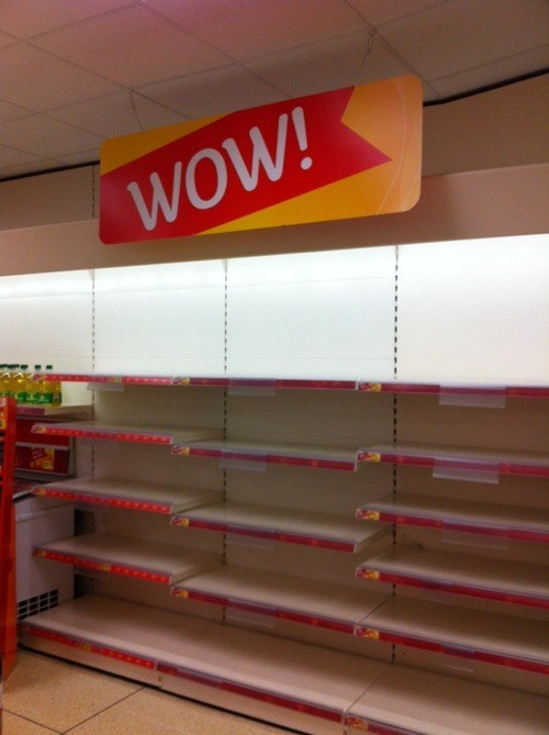 WoW,empty shelves