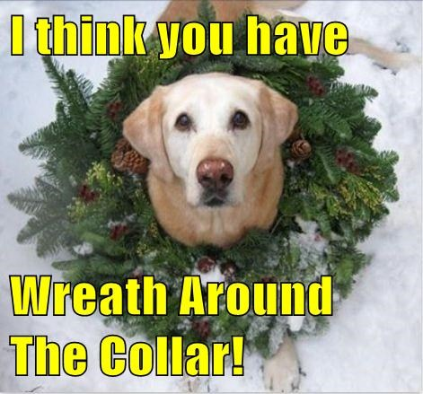 I think you have  Wreath Around The Collar!