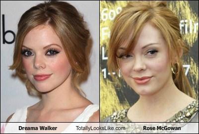 Dreama Walker,totally looks like,rose mcgowan