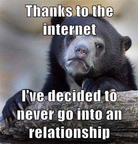 Sad,bear,online dating,funny