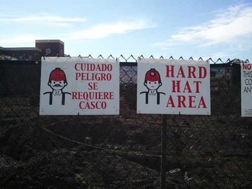 Spanish Versions of Signs Require a Mustache