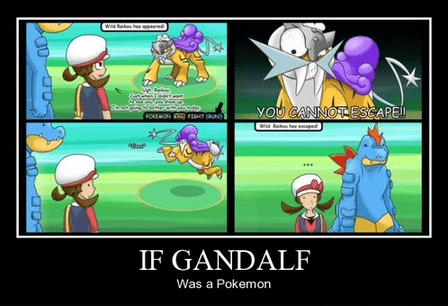Lord of the Rings,funny,gandalf,Pokémon,video games