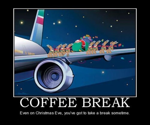 Even Santa Has a Designated Coffee Break