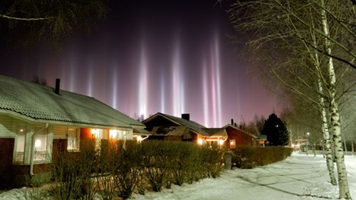 There's No Spotlights, These Are Natural Sun Pillars