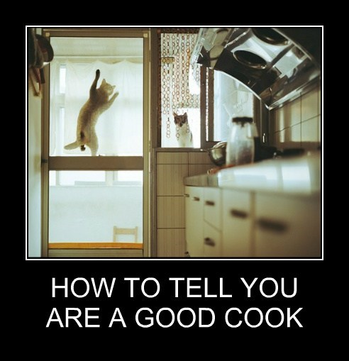 HOW TO TELL YOU ARE A GOOD COOK