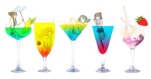 The Poke-Girls as Cocktails