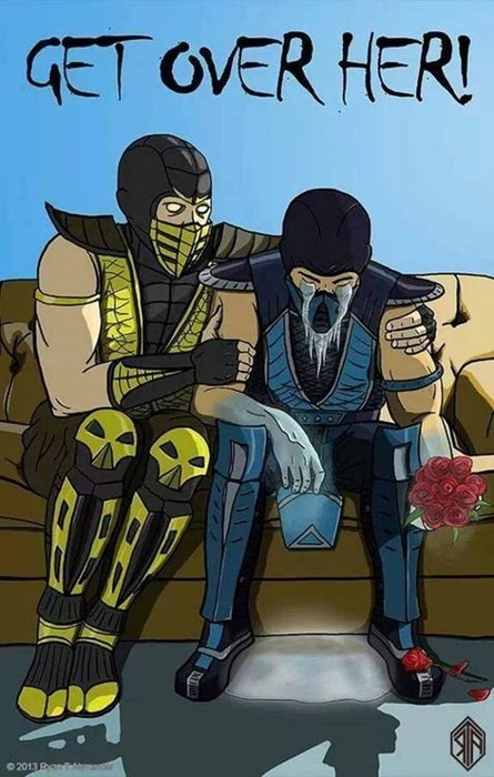 breakup,Sub Zero,Mortal Kombat,smoke never had this problem,jax just stole your girl,dating