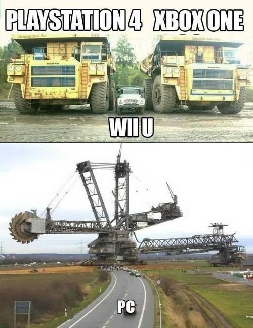 console wars,PC,PlayStation 4,wii U,xbox one