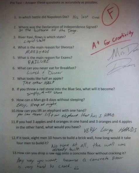 These Test Answers Are Completely Wrong But Genius at the Same Time