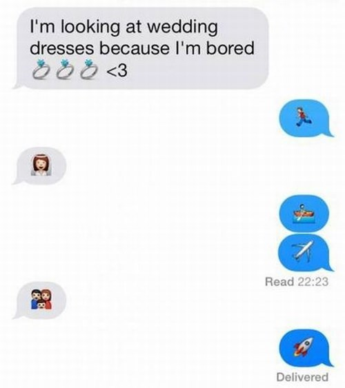 The Story of an Uncommitted Boyfriend, in Emoji Form