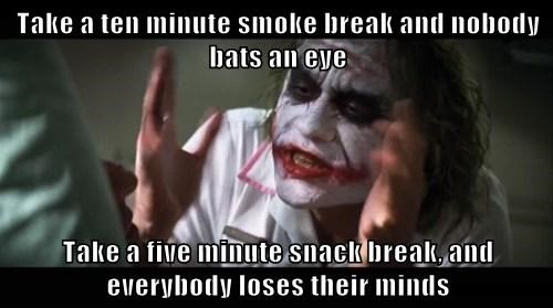 Smoker Double Standards