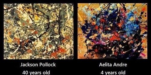 art,jackson pollock,kids