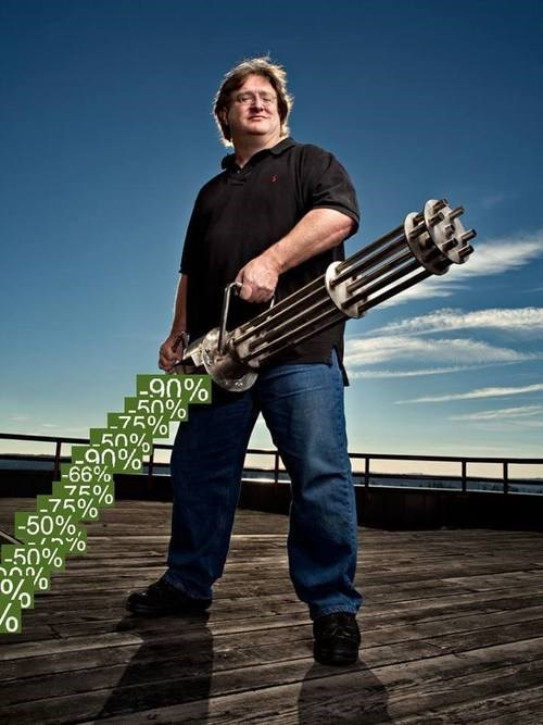 Gabe Newell Only Shoots Out Price Drops