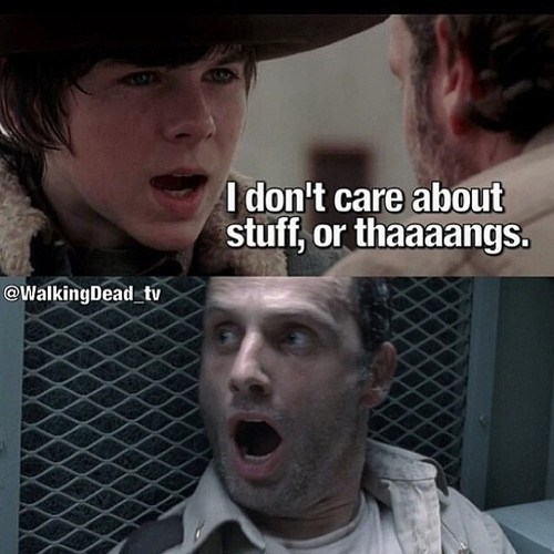 carl grimes,Rick Grimes,stuff and things