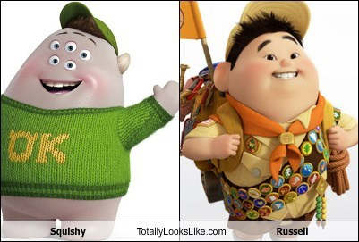 russell,squishy,up,monsters inc,totally looks like
