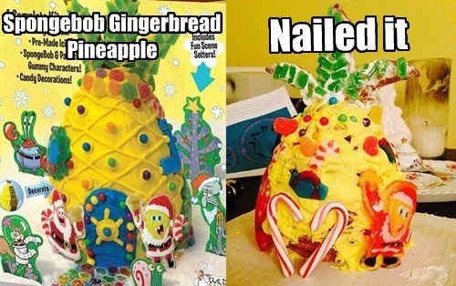 Spongebob Gingerbread Pineapple