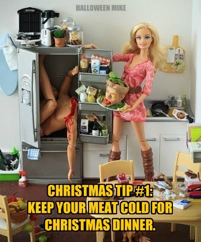 Barbie's Christmas food tips.