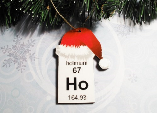 elements,christmas,holmium,science,ornaments