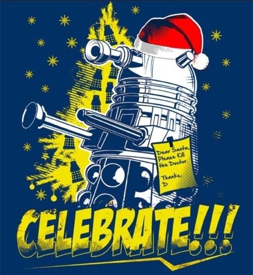 dalek,christmas,santa claus