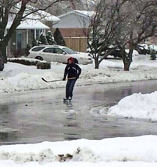 Canadians Make the Most of Their Ice Storms