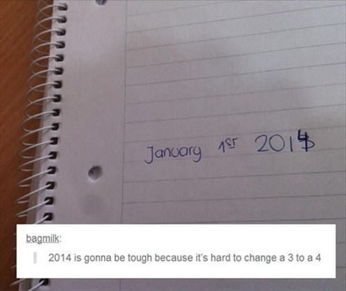 The Hardest Part About Moving into 2014