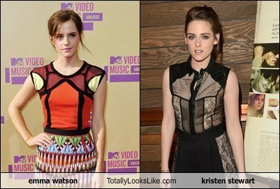 kristen stewart,emma watson,totally looks like