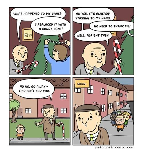 canes,christmas,kids,web comics