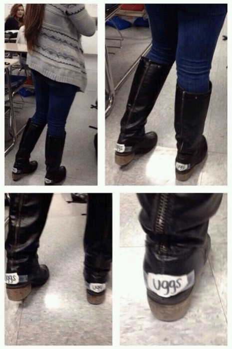 boots,FAIL,uggs,shoes,poorly dressed,g rated