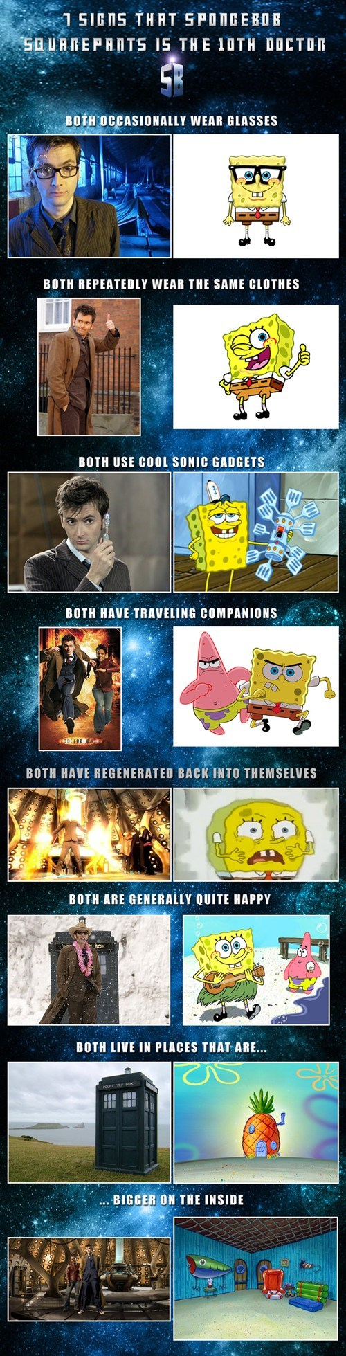 10th doctor,crossover,cartoons,SpongeBob SquarePants