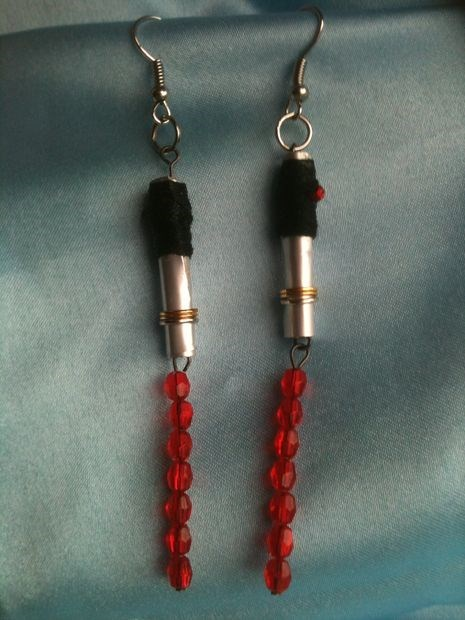 DIY Lightsaber Earrings